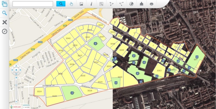 TUES utilizes street maps and satellite images under its web based spatial data